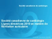 recommandation canadienne  fa 2010