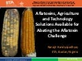 Aflatoxins agriculture and technology solutions available for abating the aflatoxin challenge mapping aflatoxin contamination maize and food chain