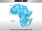 Africa editable continent map with ...