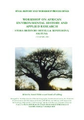 African envir hist workshop report