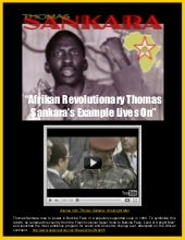 Afrikan Revolutionary Thomas Sankar...