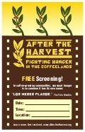 After The Harvest Screening Poster