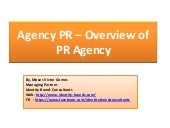 Overview of Public Relations Agency