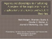 Agency relationships in marketing d...