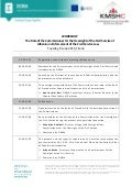 Agenda, Civil Service Commissioner workshop, 9-10 june 2015, Tirana_English