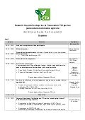 Workshop programme [Fr] - Supporting ICT-based Entrepreneurship and Innovations in Agriculture