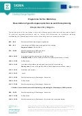 Programme of the Workshop Presentation of good European practices on workforce planning