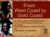 From West Coast to Gold Coast