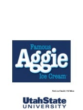 Aggie Ice Cream History