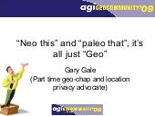 "Gary Gale: ""Neo this"" and ""paleo th..."