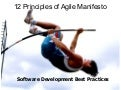 Agile Software Development - Twelve Principles