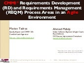 CMMI Requirements Development and Management in Agile environment