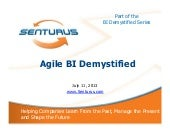 Agile BI Demystified