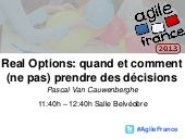 Real Options - Agile France 2013