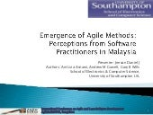 Emergence of Agile Methods: Percept...