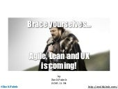 Agile, Lean UX is Coming