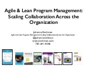 Agile program management: scaling collaboration across the organization