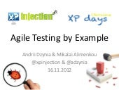 Agile Testing by Example
