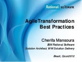Agile transformation best practices