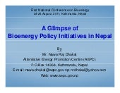 A glimpse of bioenergy policy initi...