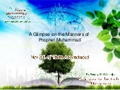 A glimpse on the manners of prophet...
