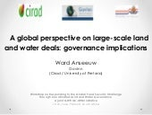 A global perspective on large scale land and water deals governance implications