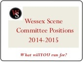 Wessex Scene AGM positions