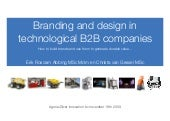 branding and design in B2B companies