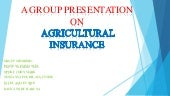 Agric insurance presentation edited