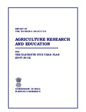 Agricultural and research information