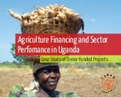 Agriculture financing and sector pe...
