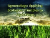 Agroecology: Applying Ecological Pr...