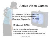 Active Video Games