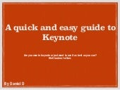 A guide to keynote
