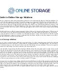 A guide to online storage solutions