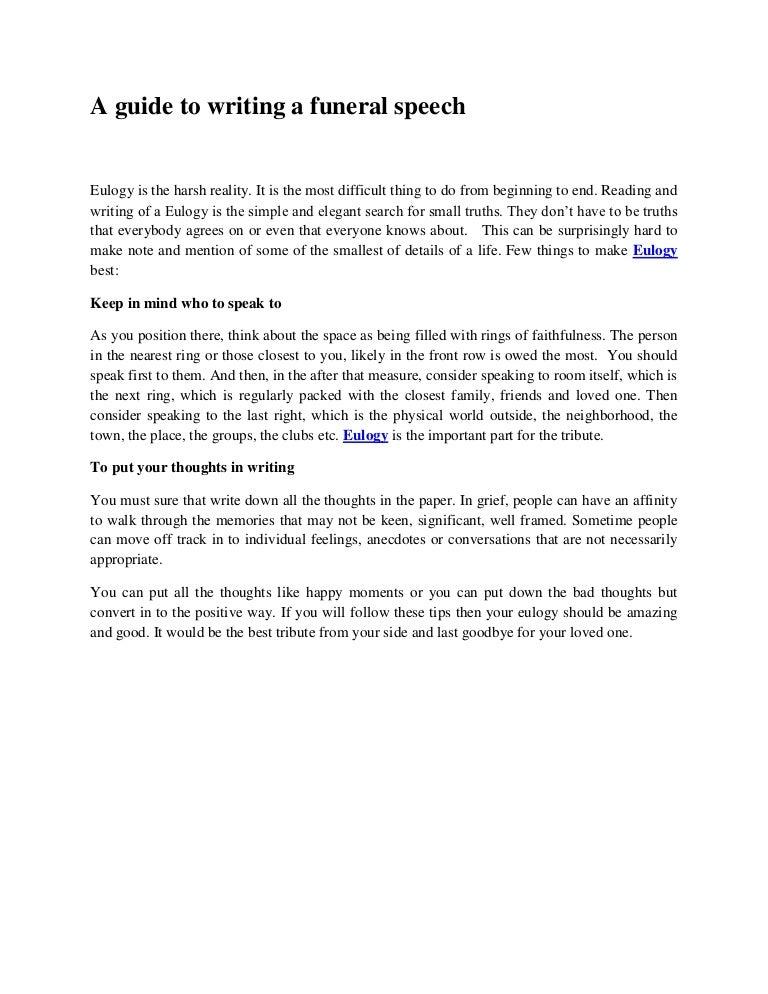 How to write a commemorative speech