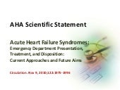 Acute Heart Failure Syndromes