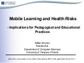 Mobile Learning and Health Risks - ...
