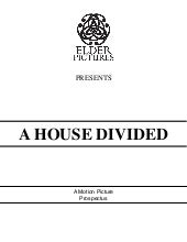 A house divided   prospectus