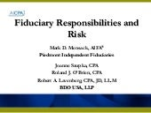 Fiduciary Responsibilities And Risks