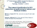 The research justification for HIV prevention programming for lesbian and bisexual females