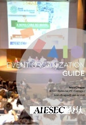 Aiesec event organization guide