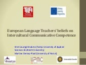 European Language Teachers' beliefs on Intercultural Communicative Competence