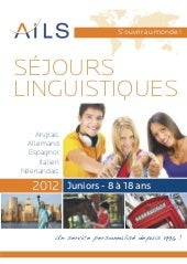 AILS | Brochure Juniors (8à18ans) 2012