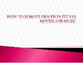 How to remove DRM from itunes movie...