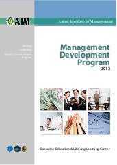 AIM Management Development Program ...