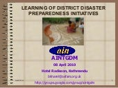 Ain learning of ddp initiatives