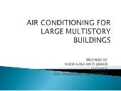 Air conditioning for large multisto...