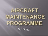Aircraft maintenance programme