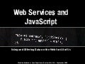 Web services and JavaScript